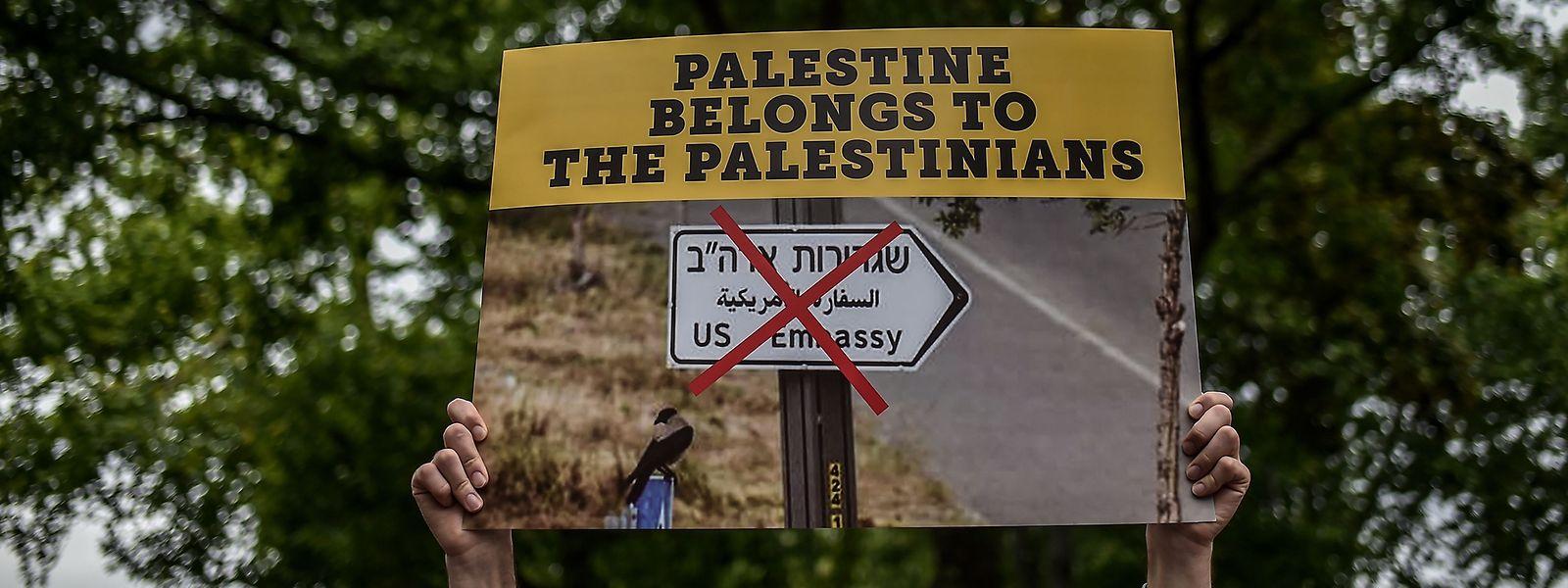 Bei vielen Palästinensern kam die Nachricht von der Verlegung der Botschaft überhaupt nicht gut an.