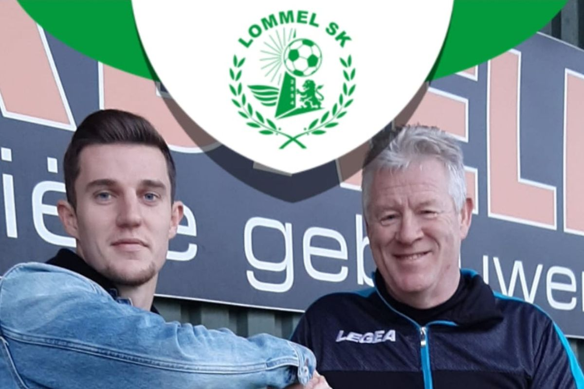 Chris Philipps (à g.) en compagnie de Peter Maes, son nouvel entraîneur à Lommel