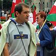 "(FILES) This file photo taken on August 23, 2002 shows former ETA activist and pro-independence Basque nationalist party Batasuna regional parliament's deputy Jose Antonio Urrutikoetxea, alias ""Josu Ternera"", during a demonstration against the expected illegalisation of Batasuna in the Spanish northern Basque city of Bilbao. - The fugitive former leader of the Basque separatist group ETA was arrested in France on May 16, 2019, Spain's interior ministry said, after years on the run. Jose Antonio Urrutikoetxea Bengoetxea, better known as Josu Ternera and who was once ETA's political chief, was detained ""in the early hours of the morning in Sallanches in the French Alps,"" the ministry said. ETA killed more than 800 people in more than four decades of violence for an independent Basque state. (Photo by Rafa RIVAS / AFP)"
