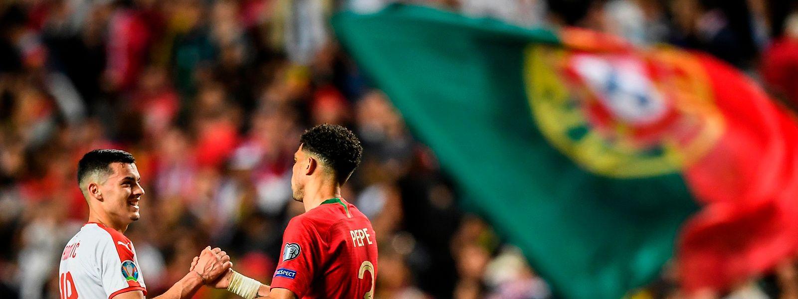 O Portugal-Sérvia, a 25 de março, ficou empatado a um golo.