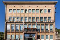 Differdingen, Rathaus wird um ein Stockwerk erweitert und neues Polizeikommissariat an der Umgehungsstrasse, Tom Ulveling, Foto Lex Kleren