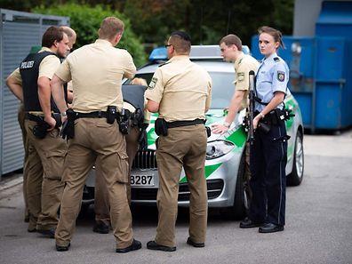 In der gesamten Münchner Innenstadt waren Polizisten zu sehen.