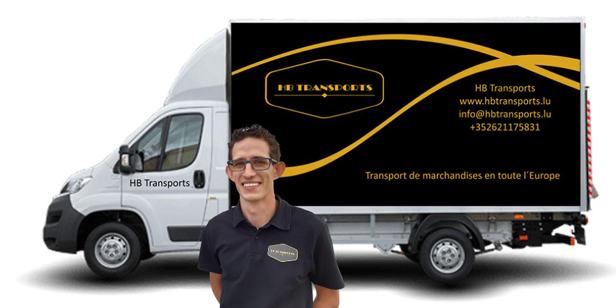 Hamilton Coelho é o jovem gestor da empresa HB Transports no Luxemburgo, um projeto financiado pela microlux.