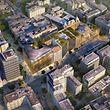 Ein Bauvorhaben der Königsklasse: der riesige Gebäudekomplex soll die Aspekte Einkaufen, Wohnen und Arbeiten miteinander verbinden.