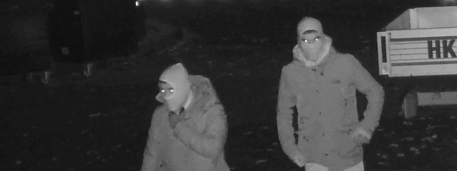 Die beiden Verdächtigen in der Nacht zum Dienstag.