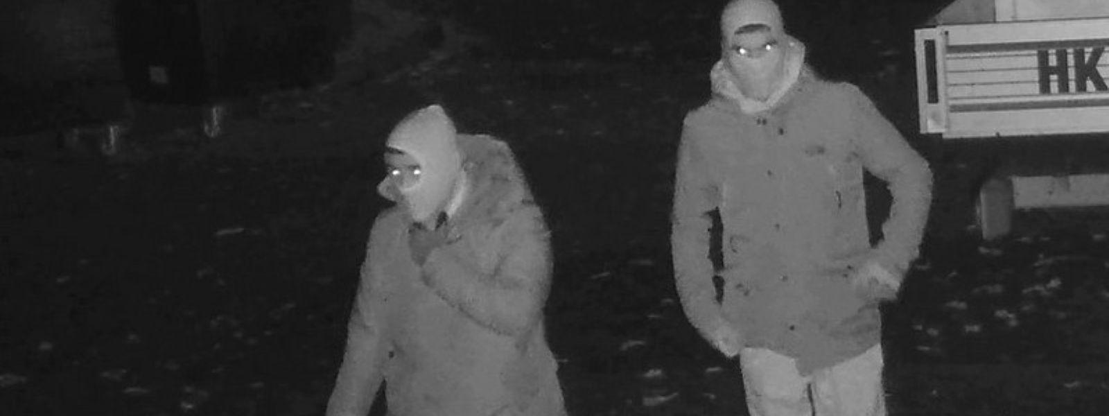 Mit diesem Bild einer Überwachungskamera fahndete die Polizei nach den Einbrechern. Den Durchbruch brachte aber eine DNA-Spur.