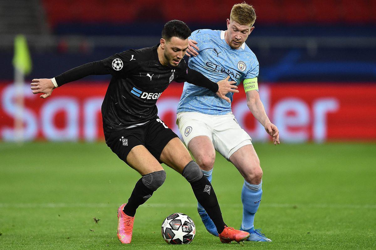 Kevin de Bruyne (r.) brachte Manchester City mit einem sehenswerten Treffer mit 1:0 in Führung.
