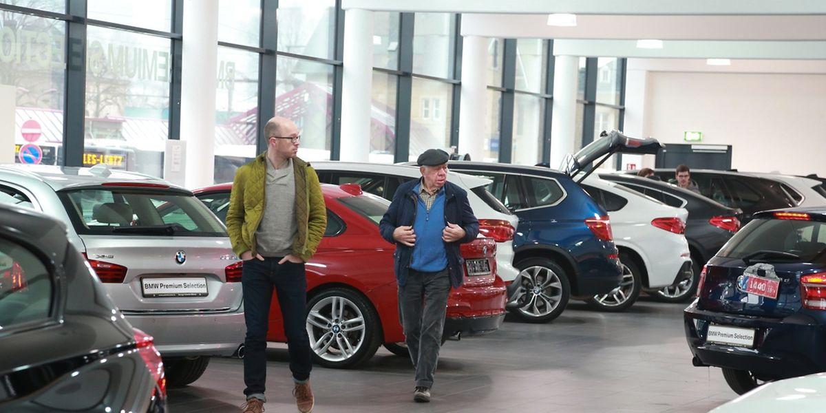 Die Vielfalt der Automodelle ist beeindruckend.