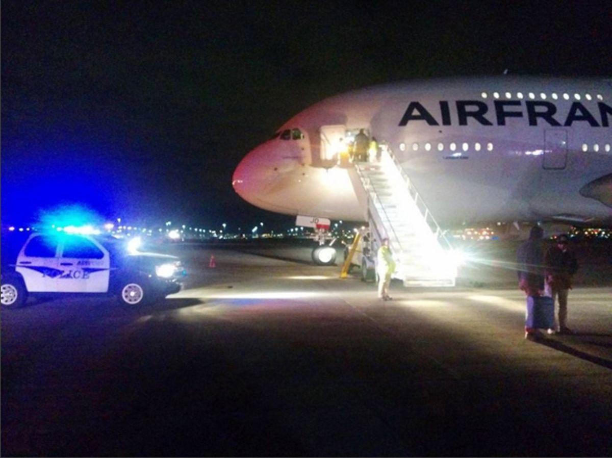 Eine der beiden betroffenen Air-France-Maschinen wurde nach  Salt Lake City umgeleitet.