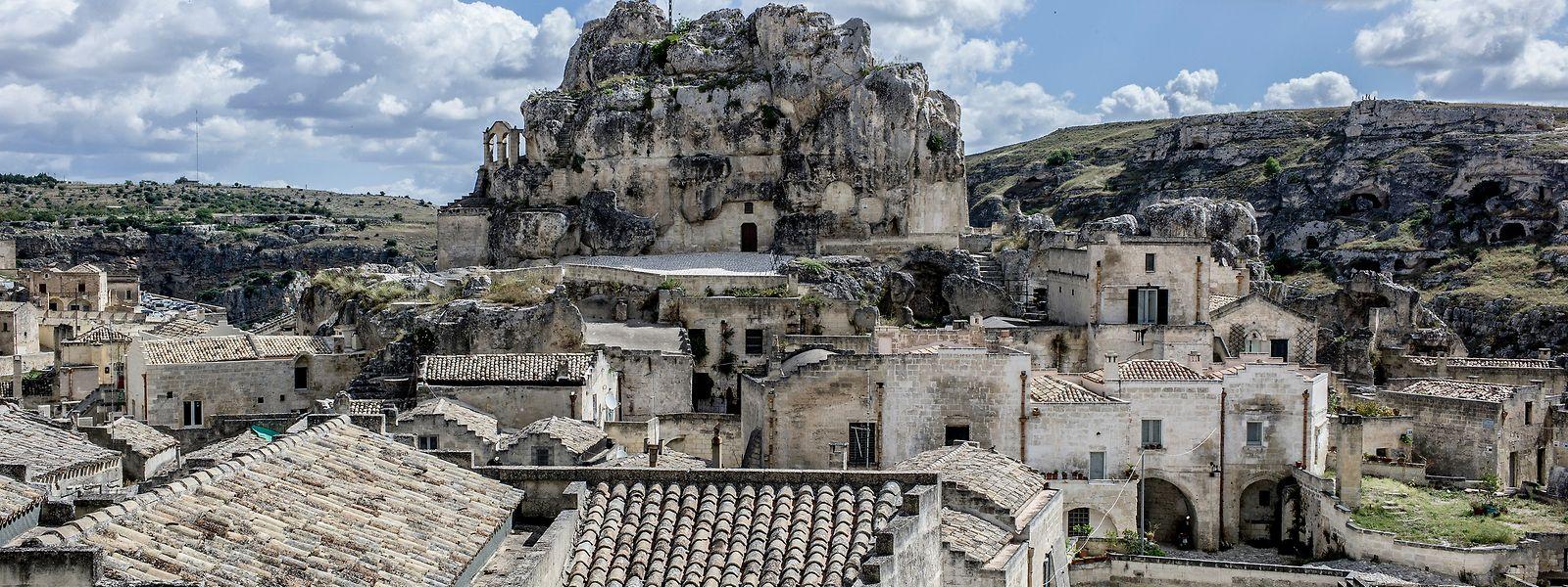 Die Höhlensiedlungen der Felsenstadt Matera waren bereits in der Antike bewohnt.
