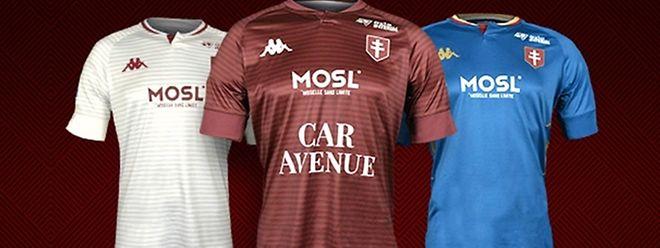 Les trois maillots avec lesquels les Messins joueront lors de la saison prochaine.