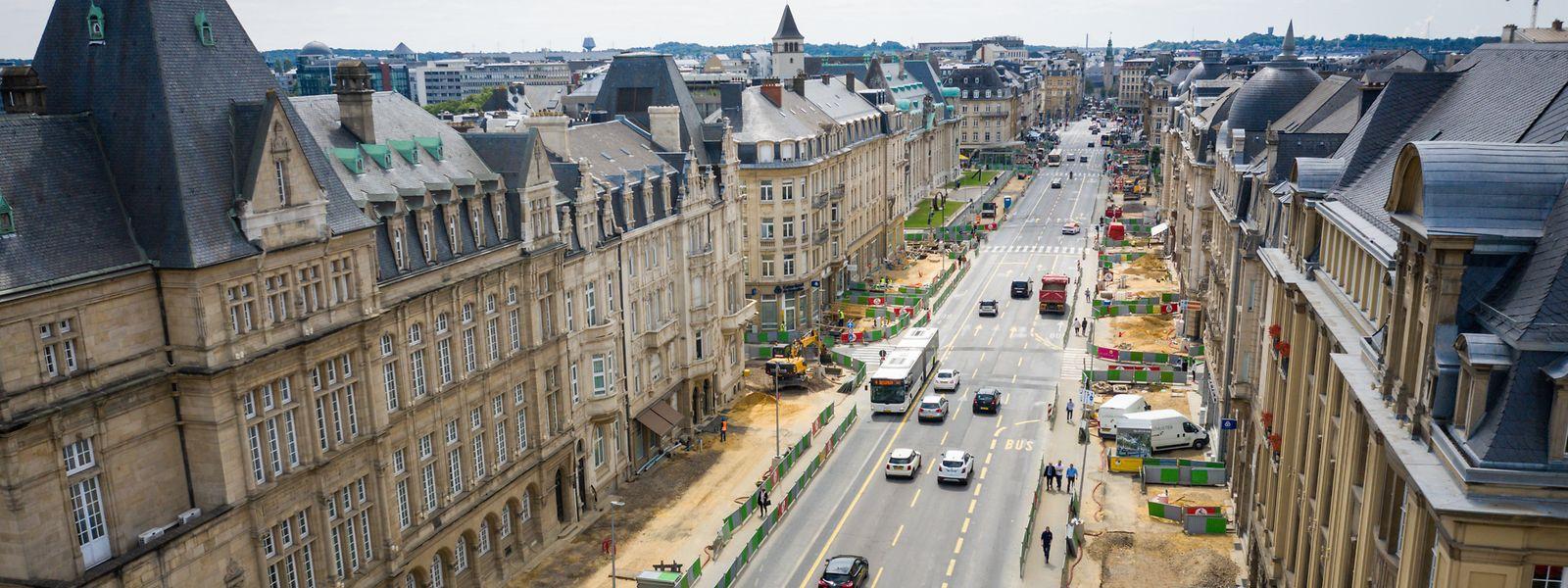 Baustellen, wohin das Auge reicht: In der Avenue de la Liberté wird derzeit mit Hochdruck gearbeitet.