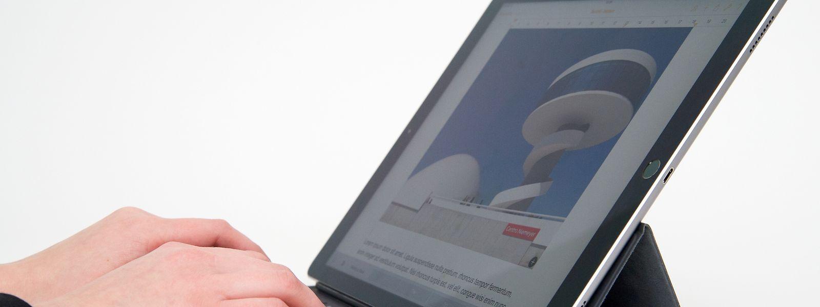 Apple vermarktet das Riesentablet auch als Notebook-Ersatz.