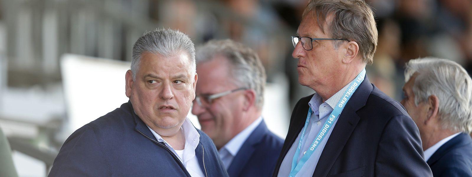 Enge Vertraute: Hauptsponsor Flavio Becca (l.) kehrt F91 Düdelingen den Rücken, Clubpräsident Romain Schumacher legt sein Amt nieder.