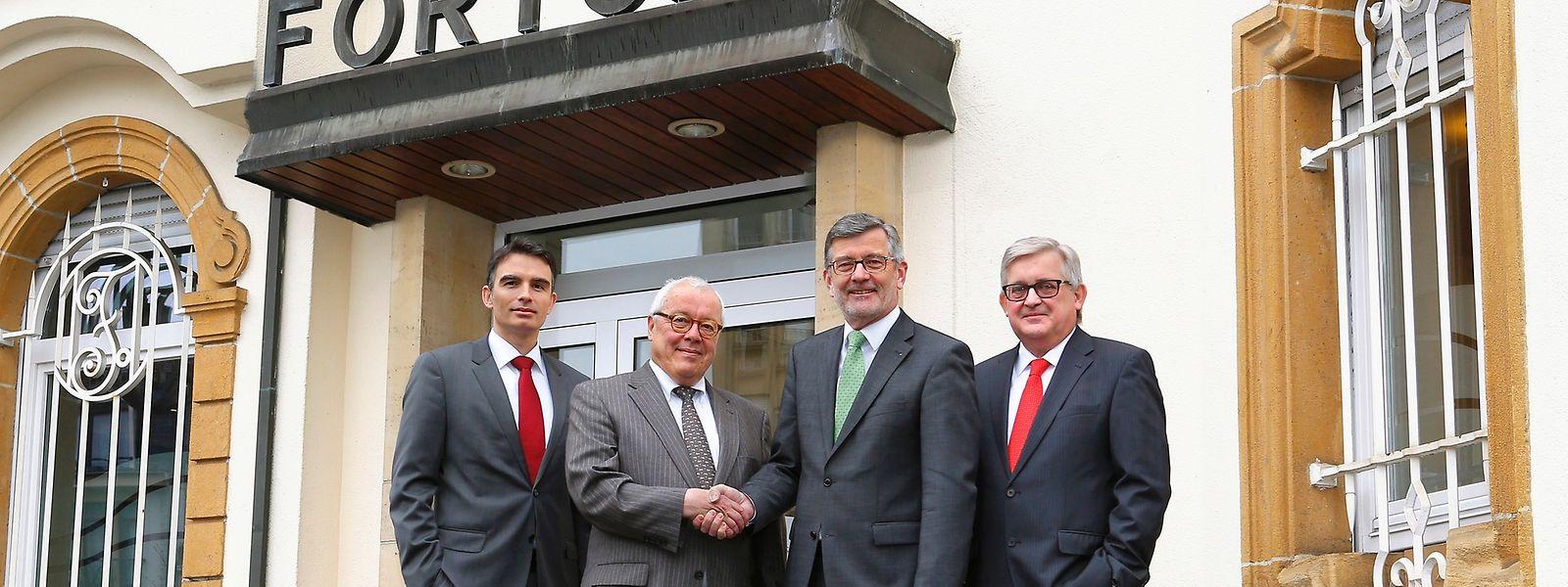 Les nouveaux visages: Jerry Grbic, André Wilwert et son successeur, André Poorters, et Charles Wagener.