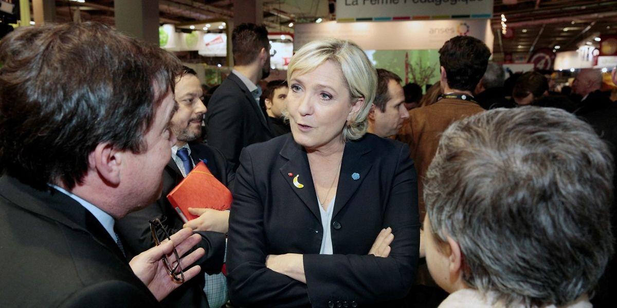 Der französischen Präsidentschaftskandidatin Marine Le Pen steht juristischer Ärger bevor.