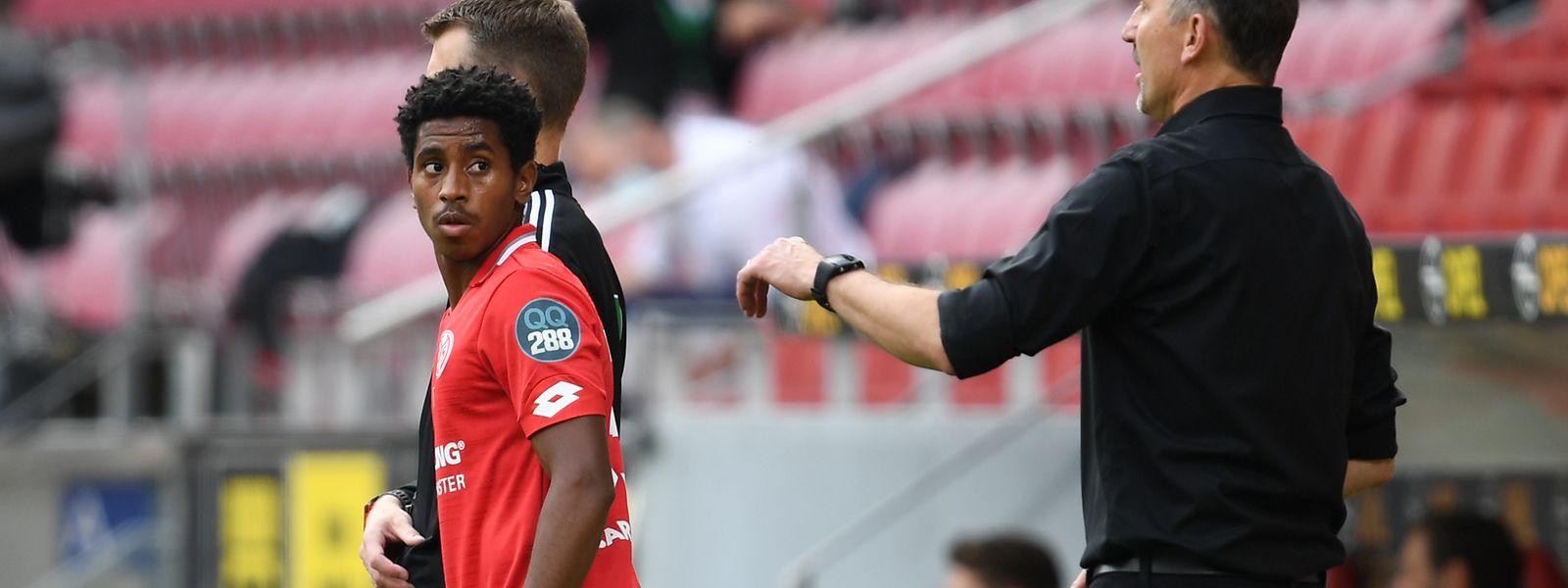 Leandro Barreiro wurde in der 56.' von seinem Trainer Achim Beierlorzer eingewechselt.