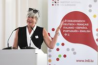 Inauguration de l'Institut national des langues, Karin Pundel, le 29 Juin 2018. Photo: Chris Karaba