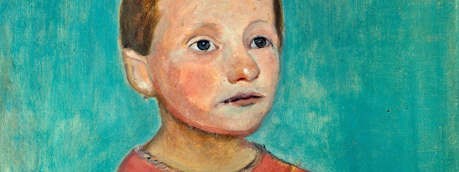 """""""Halbfigur eines Mädchens mit gelbem Kranz im Haar"""" ist eines der zentralen Werke der aktuellen Modersohn-Becker-Retrospektive in der Villa Vauban."""
