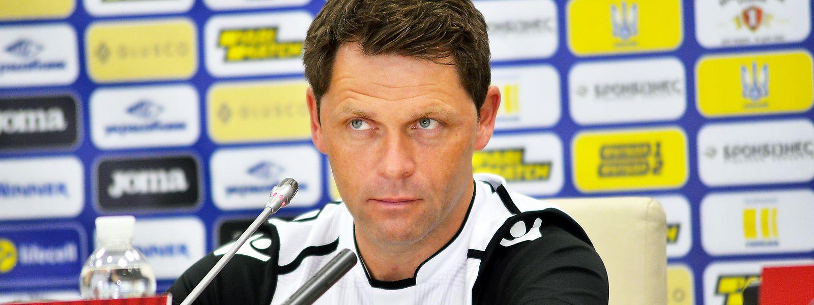 Nationaltrainer Luc Holtz ist zufrieden mit der Leistung seiner Spieler.