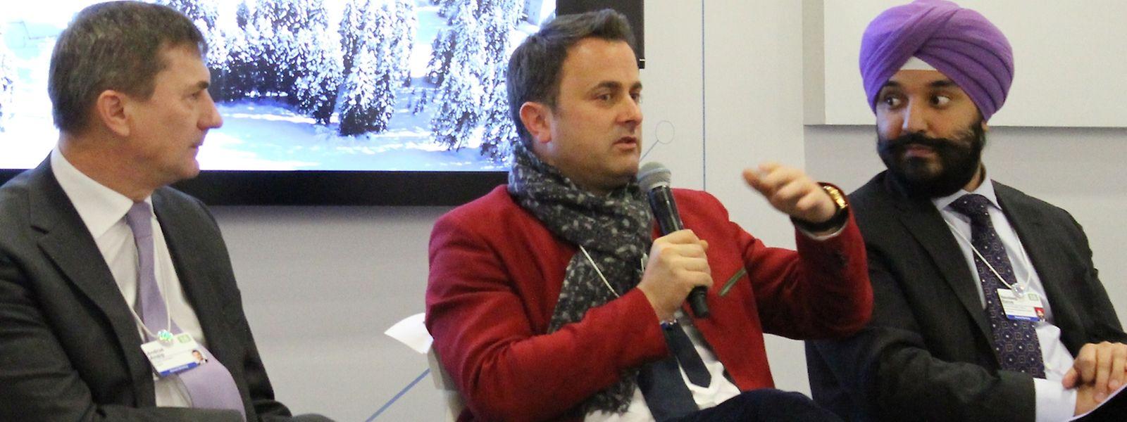 Xavier Bettel em Davos, 2018.