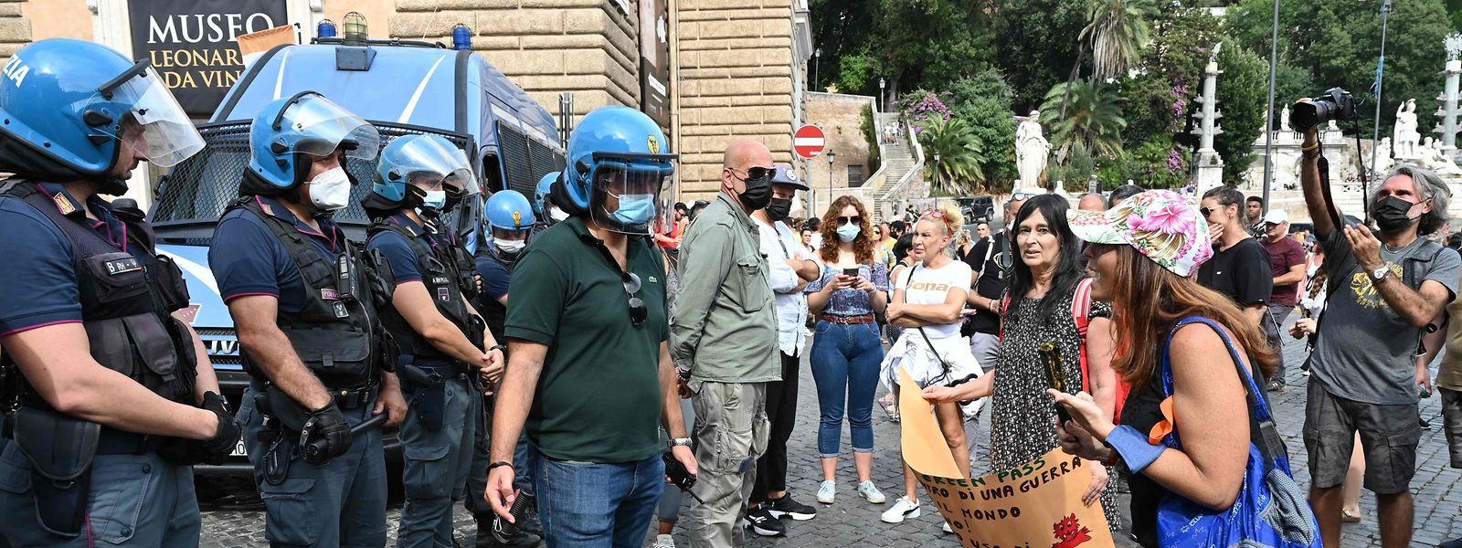 In Rom gingen etwa 3.000 Menschen auf die Straße.