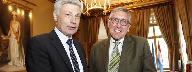 Un mariage entre le CSV qui sera emmené par Claude Wiseler (à gauche) et le parti des Verts qu'incarne le ministre du Développement durable, François Bausch, est de plus en plus attendu par les électeurs au vu de ce nouveau sondage.