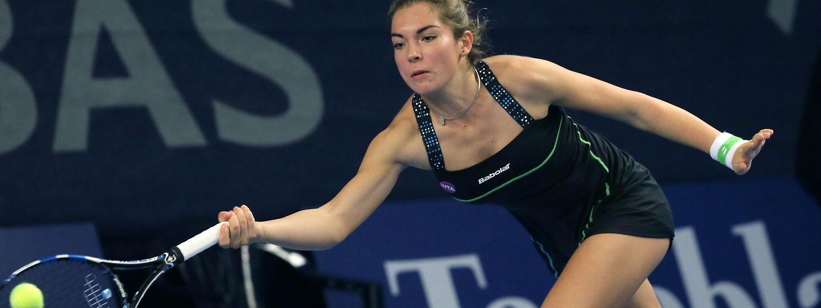 Pour Molinaro (15 ans), c'était le premier match de sa carrière dans un touroi WTA