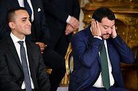 Die beiden Vizepremiers Luigi Di Maio (l.) und Matteo Salvini sind die wahren Strippenzieher der italienischen Regierung.