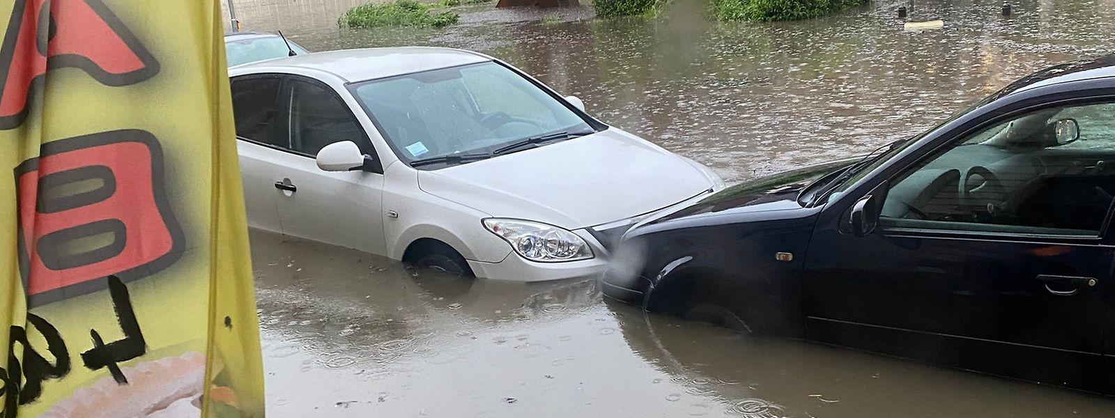 Nach starken Regenfällen Anfang Juni standen einige Straßen in Differdingen unter Wasser.