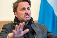 Itv Xavier Bettel Premier  Ministre Luxembourg le 02/02/2021 photo ©Christophe Olinger