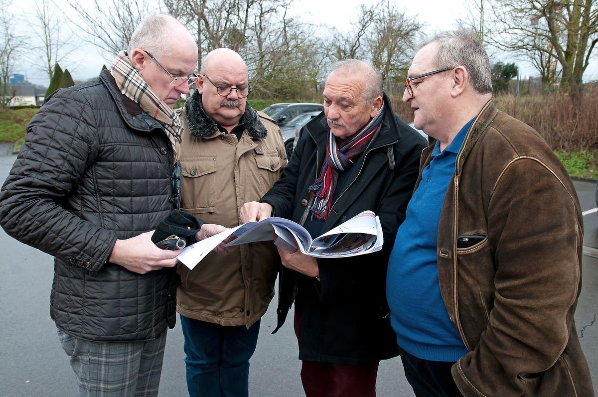 Die LSAP-Fraktion bestehend aus Serge Goffinet, Guy Altmeisch, Erny Muller und Fred Bertinelli stellten das nun verworfene Projekt vor.
