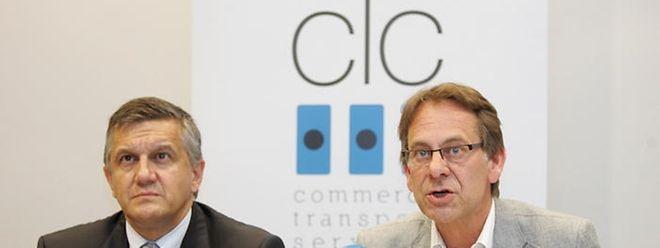 CLC-Präsident Gary Kneip (links) und Direktor Thierry Nothum verlangen mehr Mitsprache für den Handel.