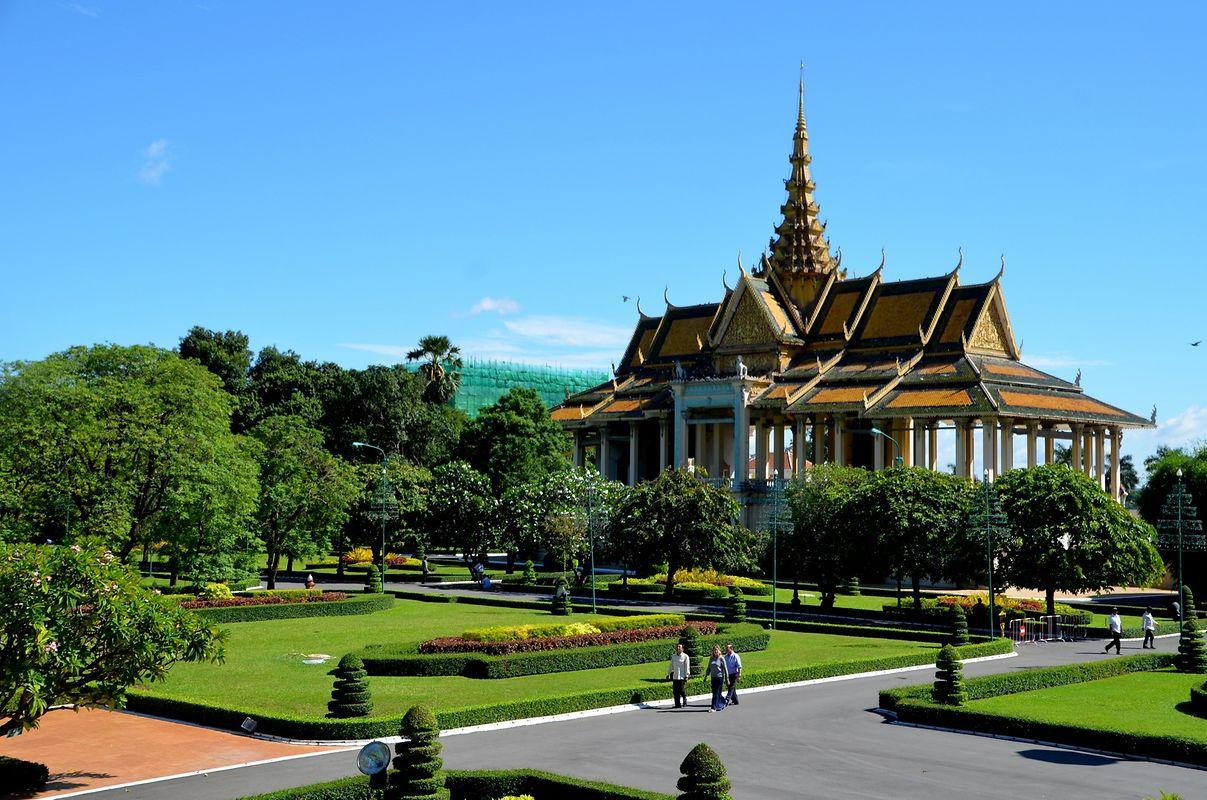 L'intérieur du site du palais présidentiel