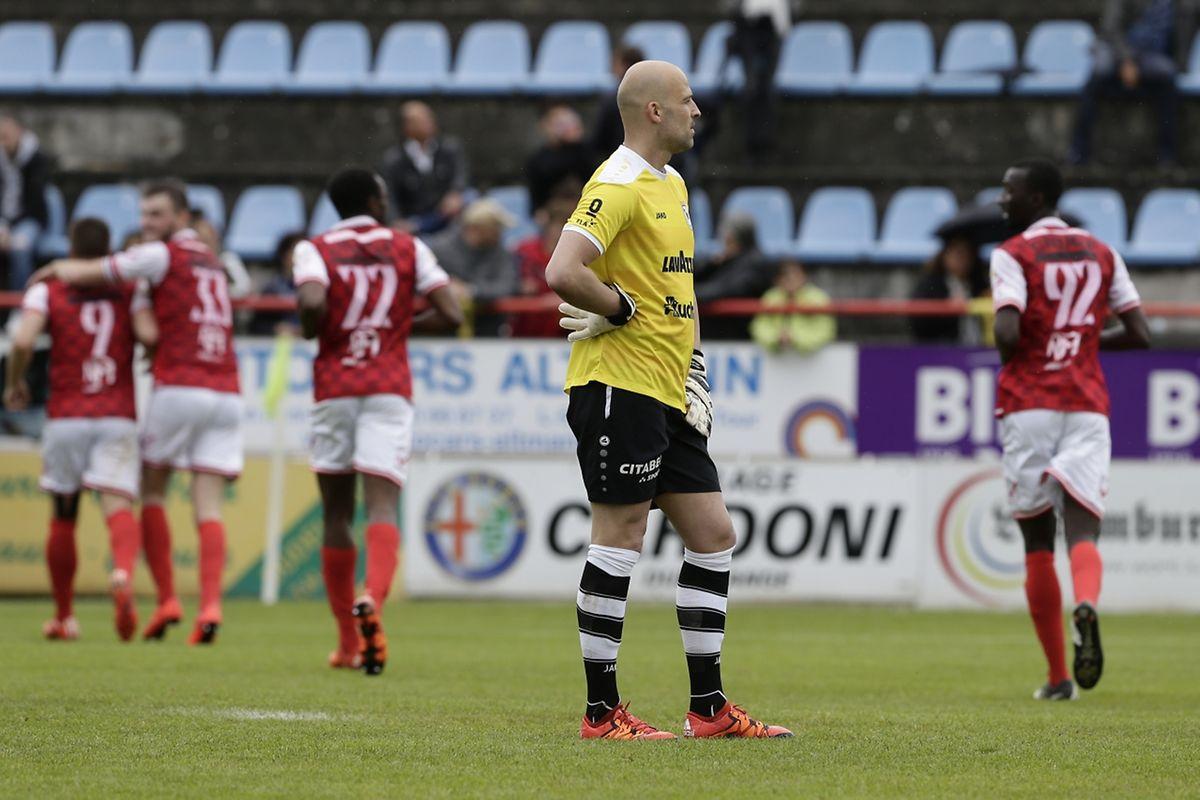 Pas de clean sheet ce dimanche pour Jonathan Joubert qui a douté comme toute l'équipe avant la délivrance signée Rodrigue Dikaba