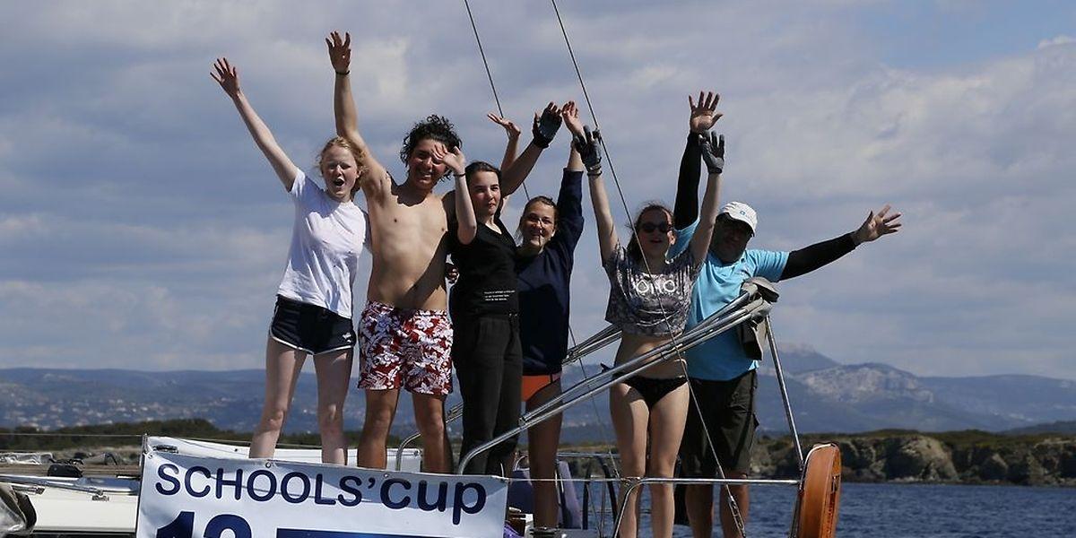 L'équipe de l'Ecole européenne de Mamer, vainqueur de la course.