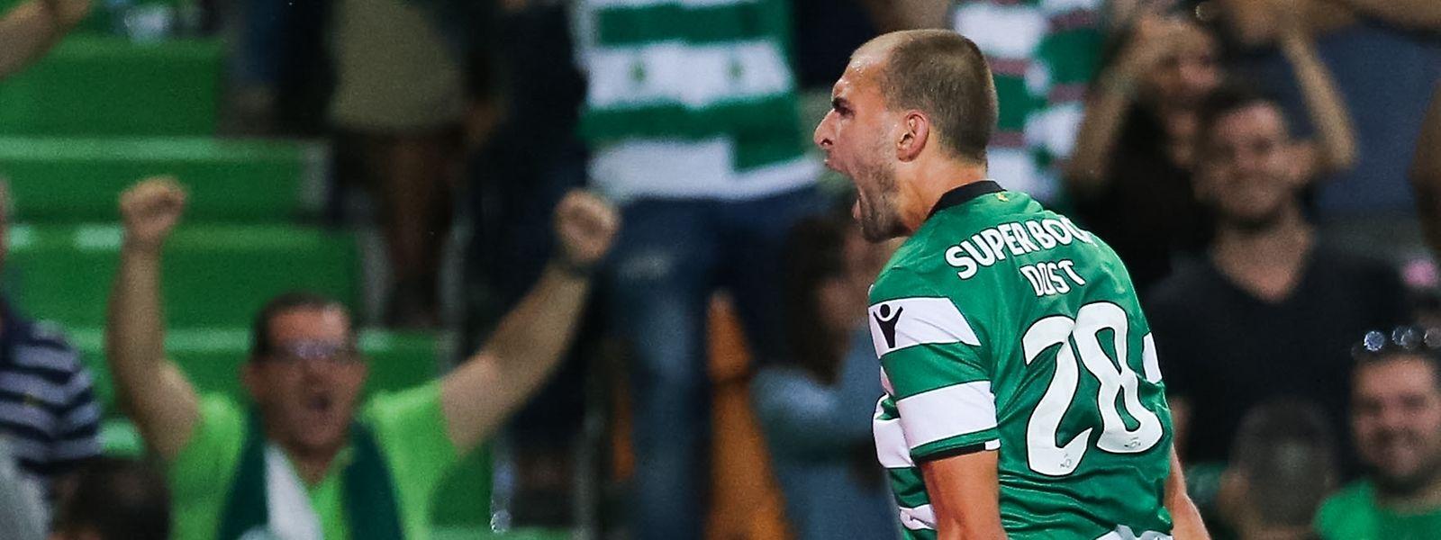Bas Dost marcou o golo da vitória do Sporting, na conversão de uma grande penalidade