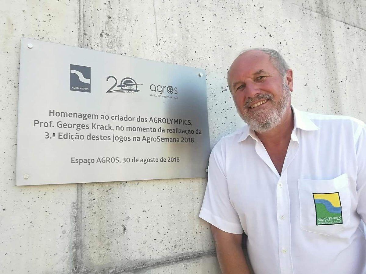 O professor reformado luxemburguês foi surpreendido com uma homenagem em Vila do Conde.