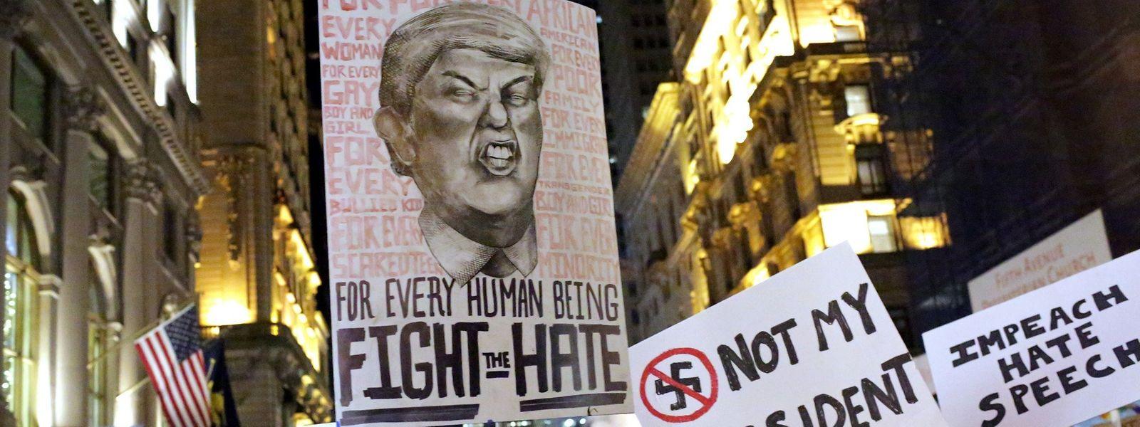 Jeden Abend protestieren Trump-Gegner in vielen amerikanischen Städten.