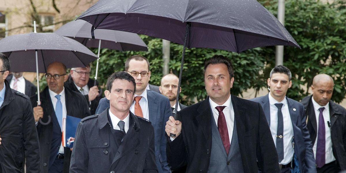 Manuel Valls était lundi en visite au Luxembourg.