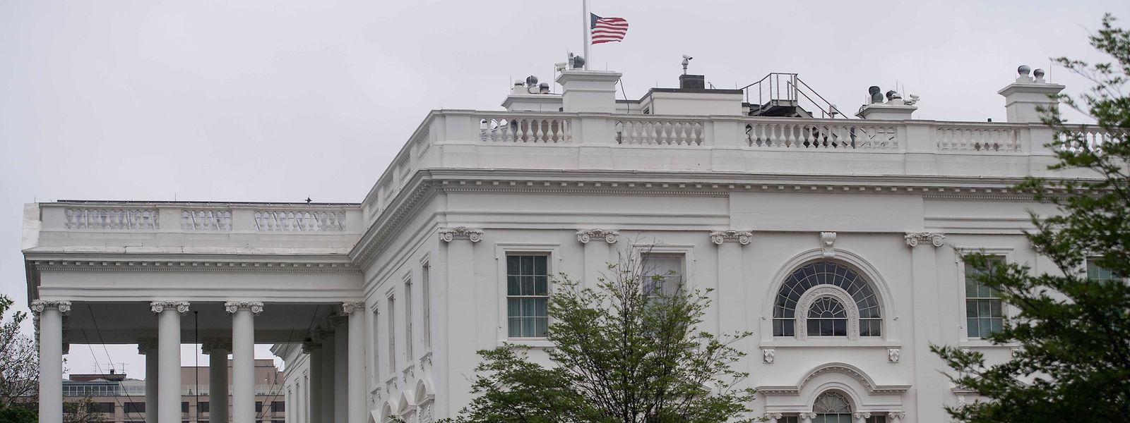 Am Weißen Haus in Washington hing die Flagge gestern auf Halbmast.