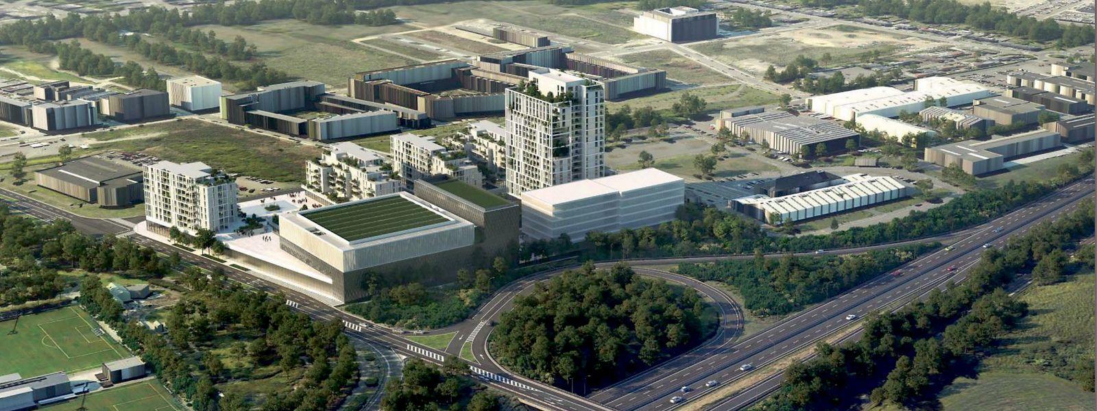 In Lankelz entsteht ein Wohnprojekt samt Einkaufszentrum, Arena und Sportmuseum.