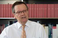 Politik, Interview mit Jean-Claude Wiwinius, Président de la Cour Supérieur de Justice, cité Judiciaire, Foto: Chris Karaba/Luxemburger Wort