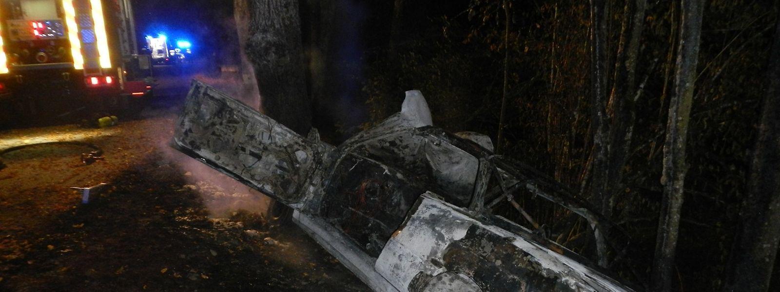 De la voiture, il ne restait plus que la carcasse.