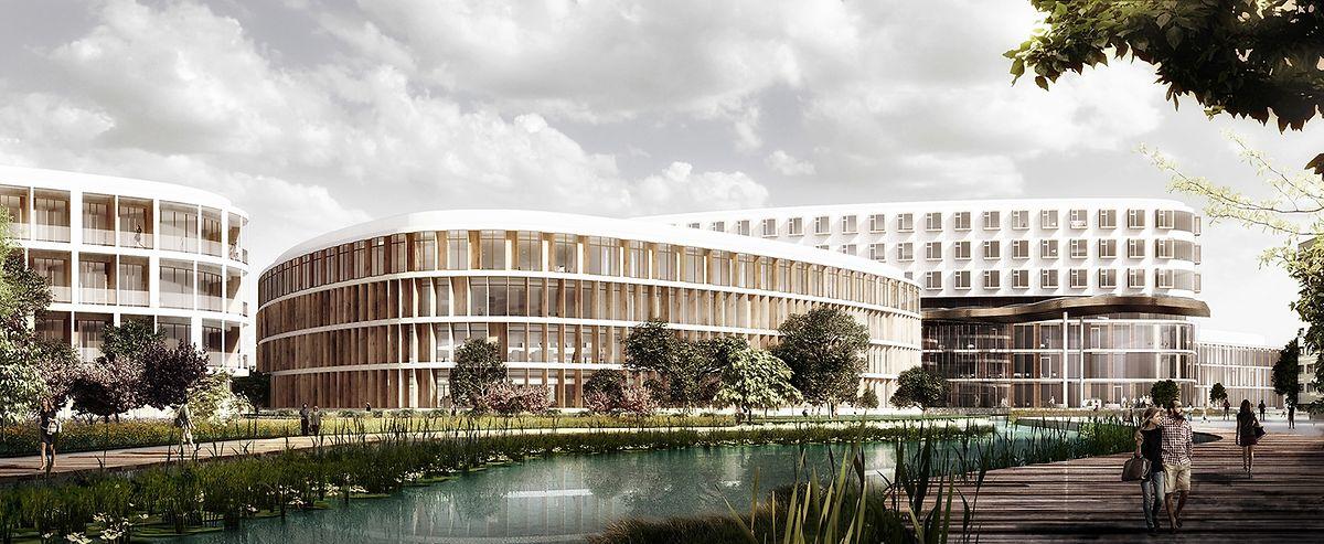 So könnte das Südspital einmal aussehen.