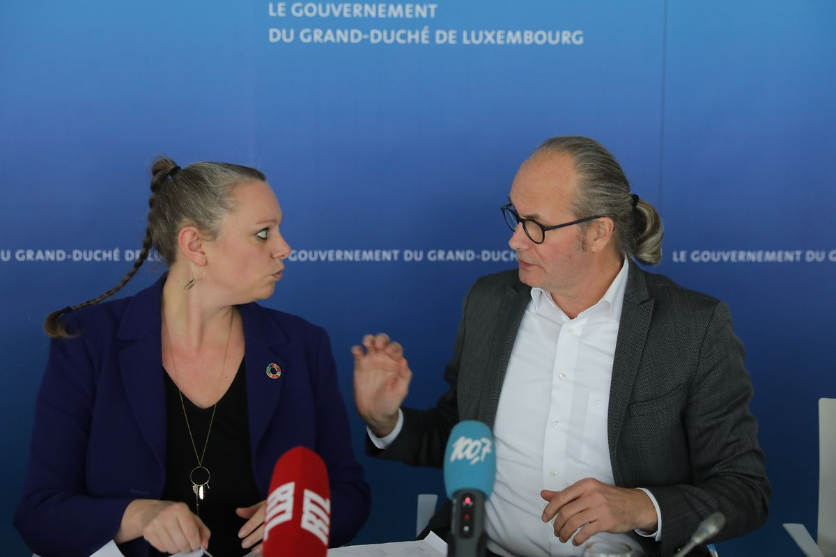 Klare Ansage: Luxemburg wird keine Gelder für die Nutzung der Kernkraft  bereit stellen, betonen die Grünen-Minister Carole Dieschbourg und Claude Turmes.