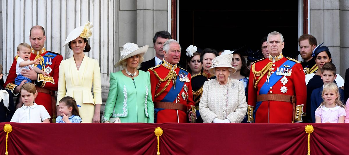 2019 war ein schwieriges Jahr für die britische Königsfamilie, hier auf dem Balkon von Buckingham Palace.