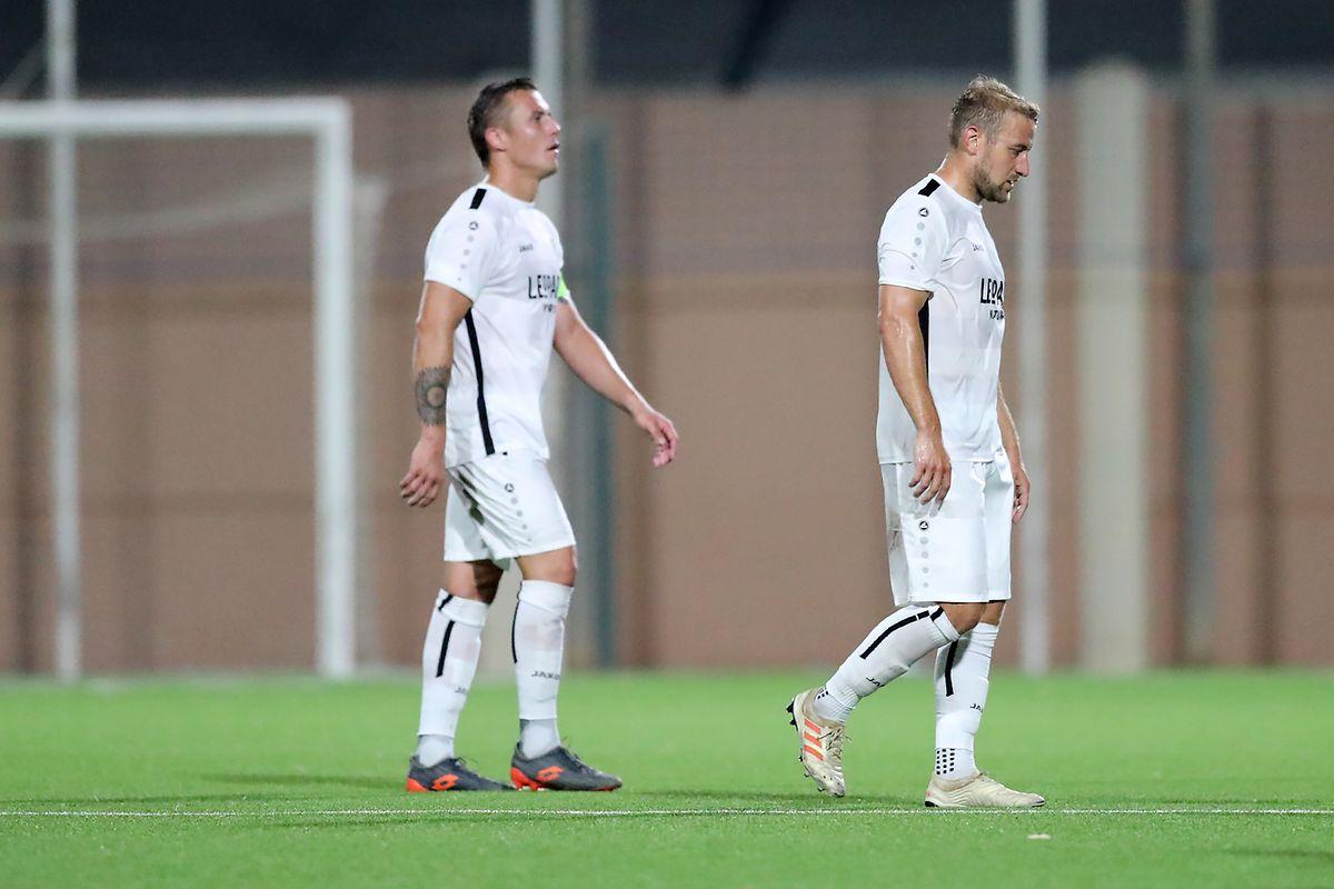 Tom Schnell und Dominik Stolz (r.) müssen in der Champions-League-Qualifikation eine Enttäuschung hinnehmen.