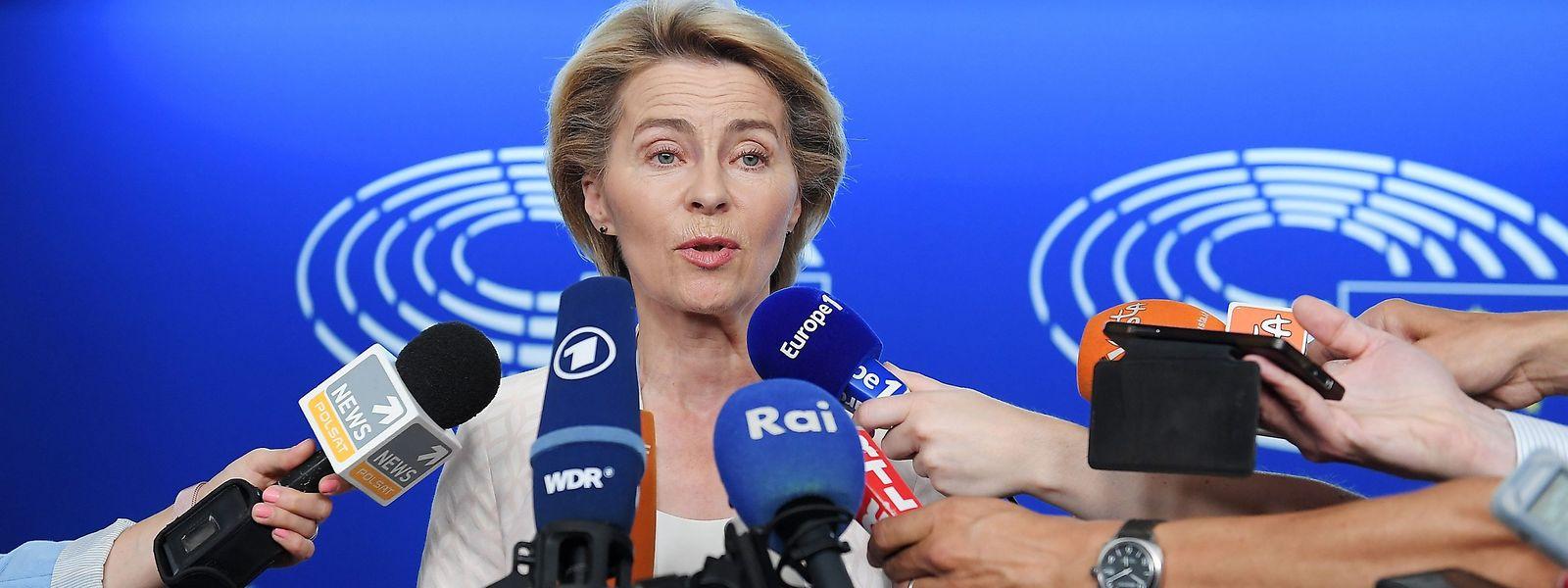 Ursula von der Leyen a réservé son premier déplacement de candidate comme présidente de la Commission à Strasbourg, là où bat «le cœur de la démocratie européenne».