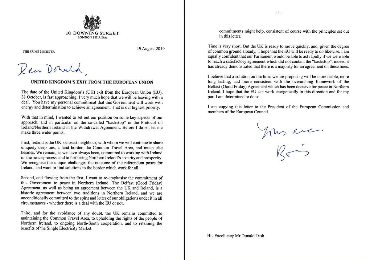 """""""Dear Donald"""", mit diesen Worten beginnt der Brief aus London an Donald Tusk in Brüssel."""